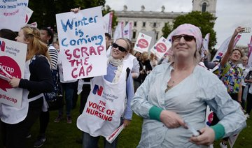 UK nurses bid for 3.9 percent salary rise in latest push against pay cap