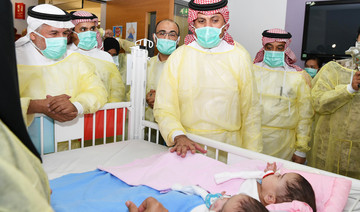 Saudi National Guard minister visits conjoined twins after their successful separation