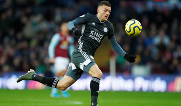 Vardy hits double in Leicester's 8th straight victory