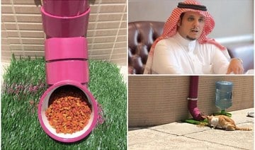 Saudi animal-lovers find 'purrfect' feeding solution for city's hungry stray cats