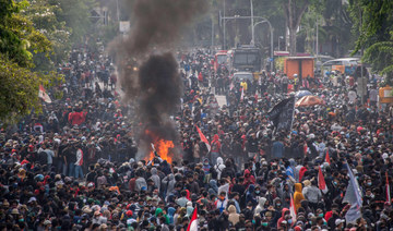 Protests turn violent as Indonesians oppose new labor law