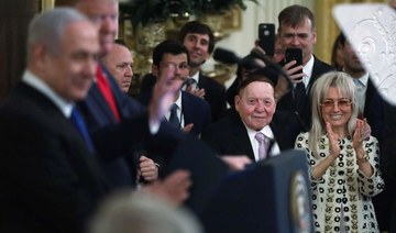 Adelson demonized Palestinians, bolstered Israel