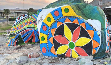 Saudi artist paints nation's heritage across rocks