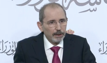 Jordan's Deputy Prime Minister Ayman Safadi held a press conference on Sundaya bout Saturday's arrests of senior government officials. (Screenshot)