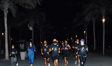 The adidas Runners community on their first outing in Jeddah earlier this month. (Supplied/adidas Runners)