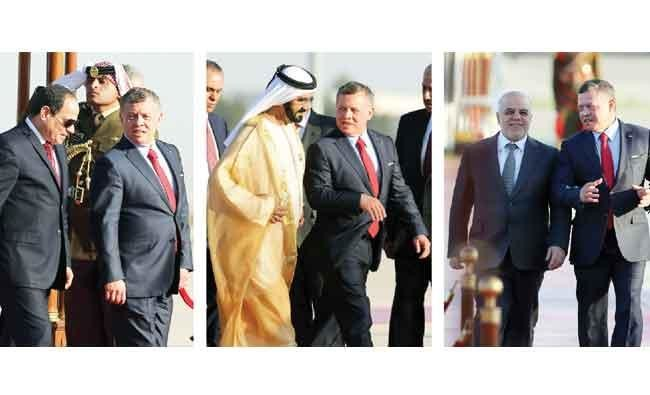 Heads of state arrive in Jordan for summit