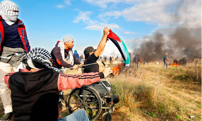 Symbol Of Resistance Palestinian Who Lost Legs In 2008 Clash Is