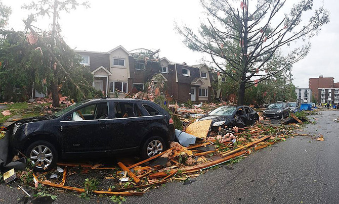 Tornado Destroys Homes Causes Power Outage Near Canadian Capital Arab News