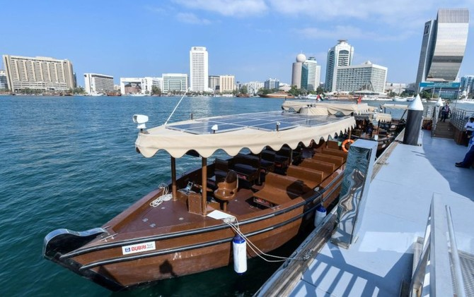Dubai's traditional abra goes green