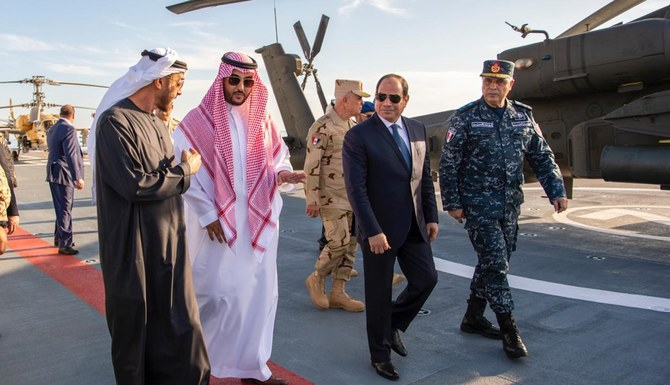 Prince Khalid bin Salman attends Egypt's Berenice military base opening
