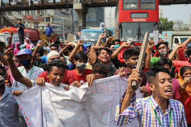 'Starving' Bangladesh garment workers protest for pay during COVID-19 lockdown