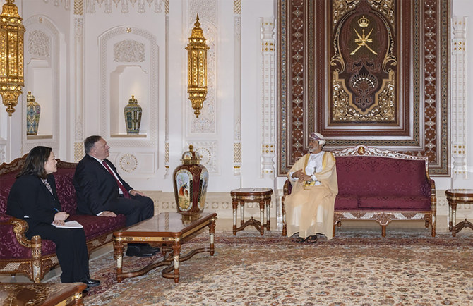 Pompeo ends Mideast trip with visit to Oman's new sultan