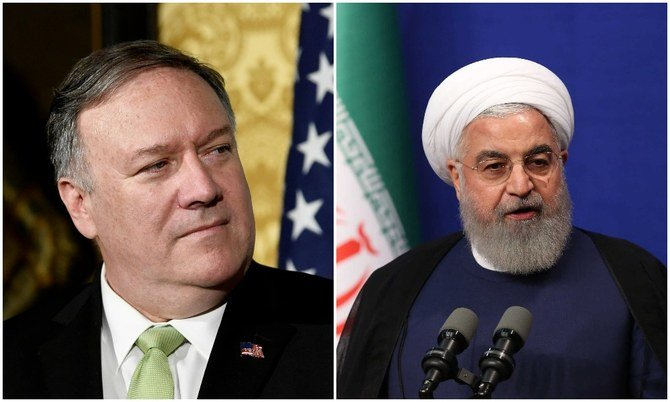 "US Secretary of State Mike Pompeo (L) said Washington would not be held hostage to ""nuclear blackmail"" by the Iranian regime in a tweet on Tuesday. (Reuters/File Photos)"