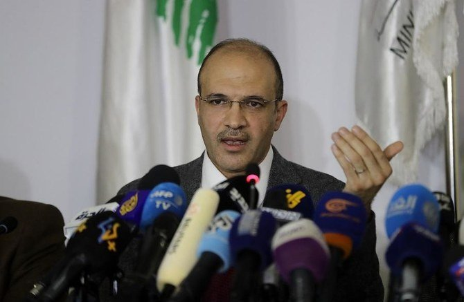 Lebanese Health Minister Hamad Hasan speaks during a press conference at the ministry in the capital Beirut in February 2020. (AFP/File Photo)
