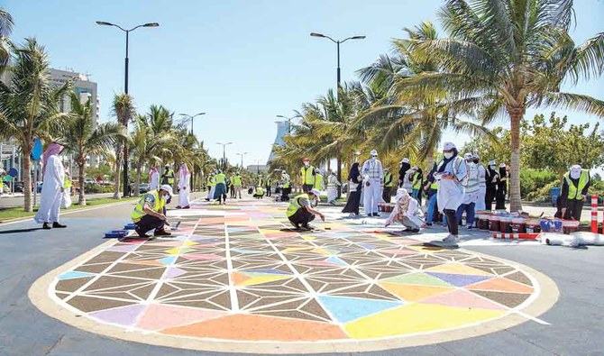 Creative touch adds a little color to Jeddah's corniche