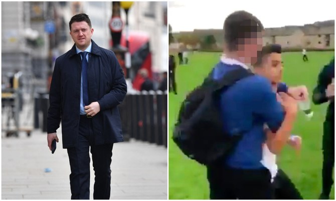 English Defense League founder StepEnglish Defense League founder Stephen Yaxley-Lennon (L), known as Tommy Robinson, arriving at court for a libel case for accusations made against Syrian refugee schoolboy Jamal Hijazi, filmed in 2018. (AFP/Screenshot)hen Yaxley-Lennon, known as Tommy Robinson, arriving at court for a libel case for accusations made against Syrian refugee schoolboy Jamal Hijazi, filmed in 2018. (AFP/Screenshot)