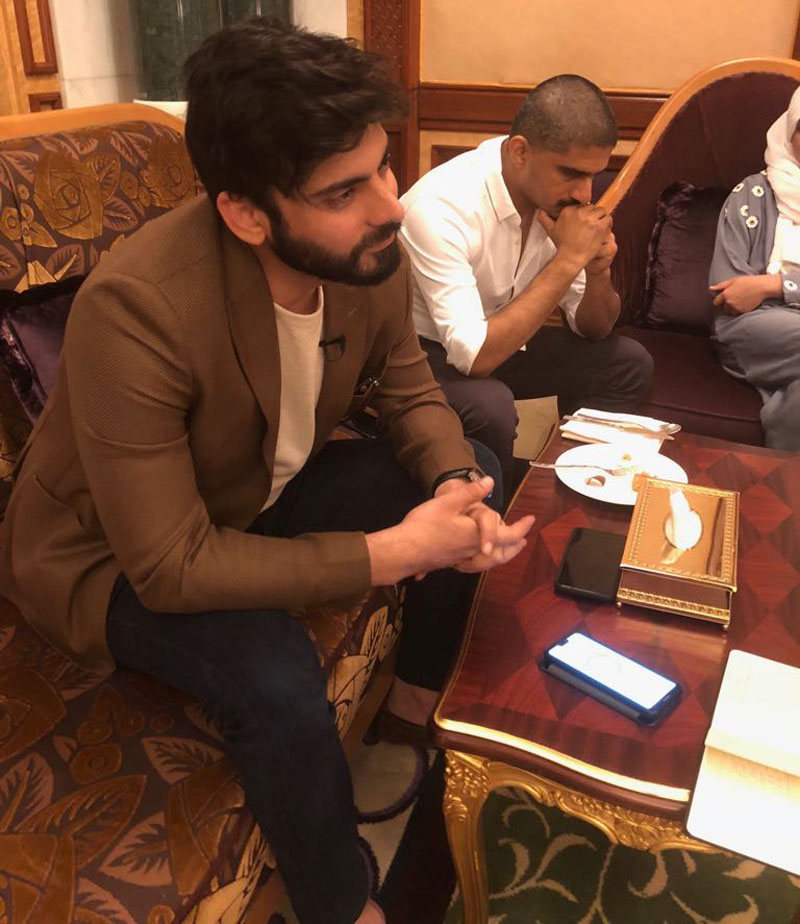 Just a face in the crowd: Pakistani film icon Fawad Khan escapes the spotlight as a Saudi guest at Hajj